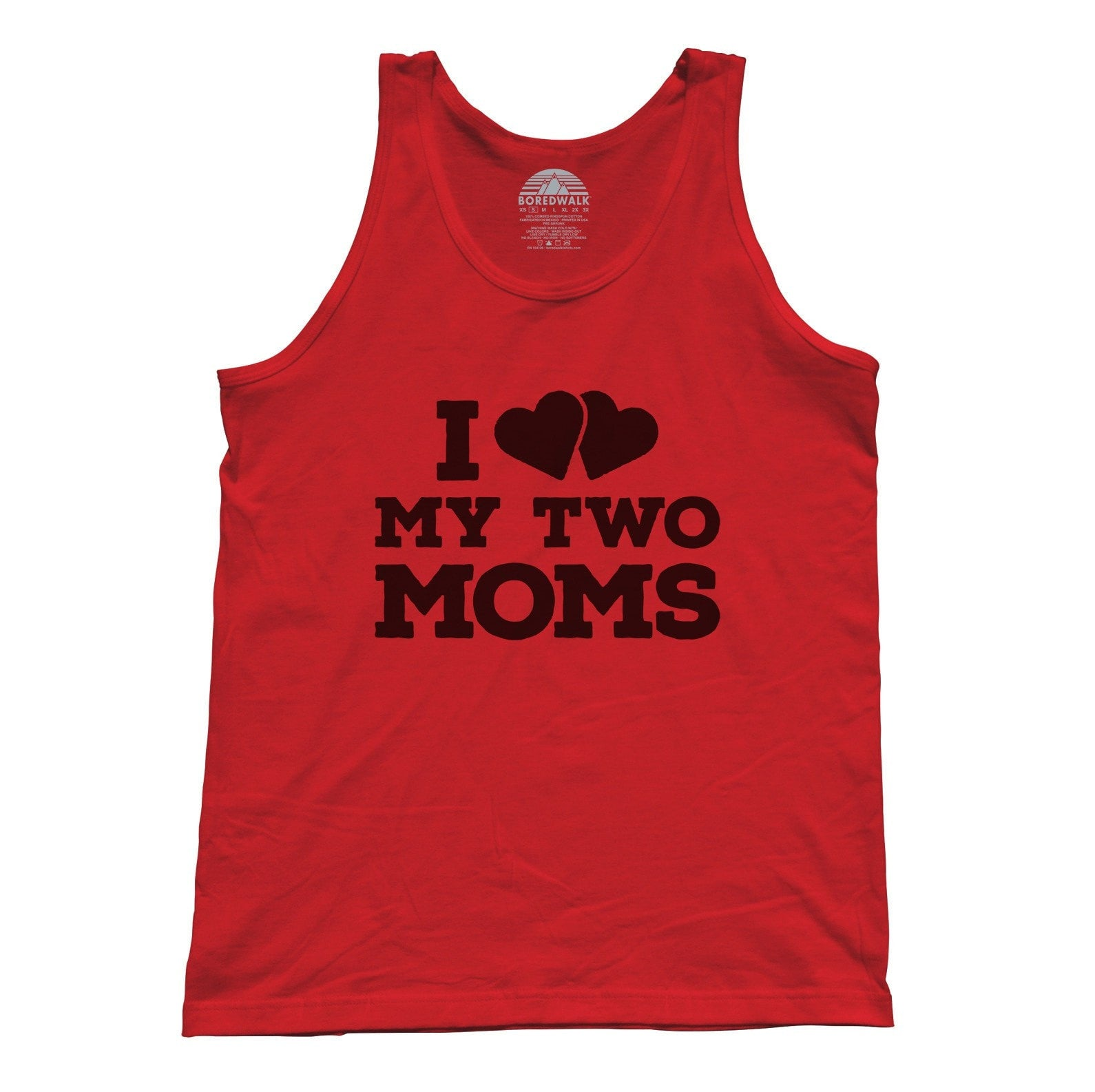 Unisex I Love My Two Moms Tank Top