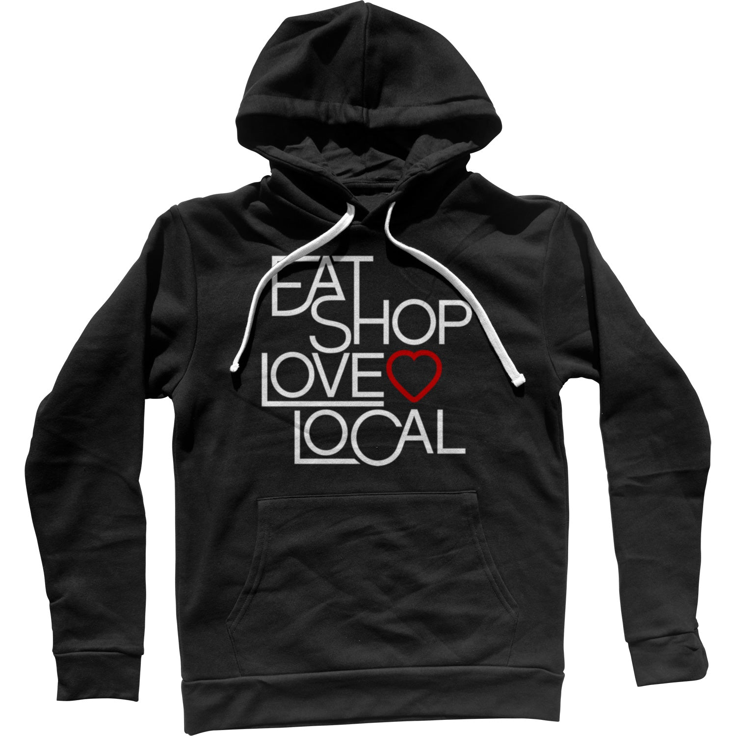 Love Shop Eat Local Unisex Hoodie