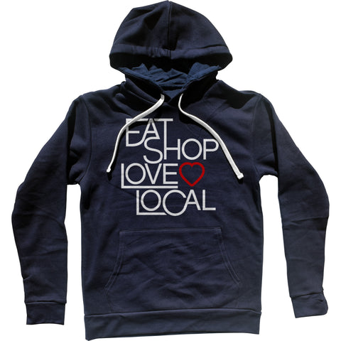 Boredwalk Eat Shop Love Local Hooded Sweatshirt Hoodie