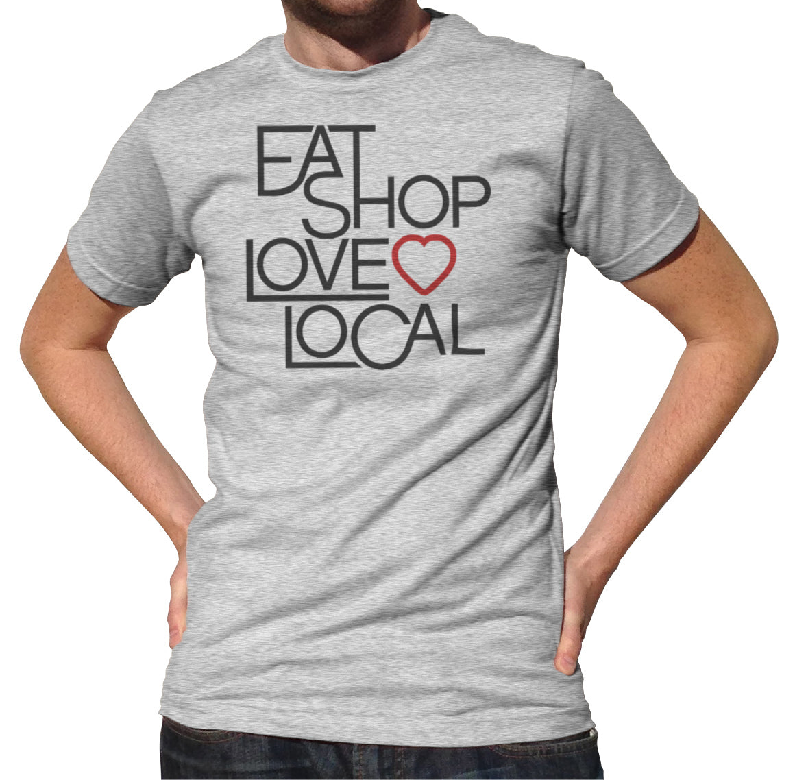 Men's Love Shop Eat Local T-Shirt