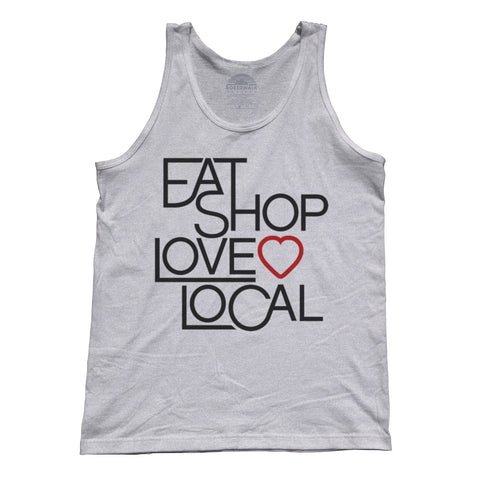 Unisex Love Shop Eat Local Tank Top