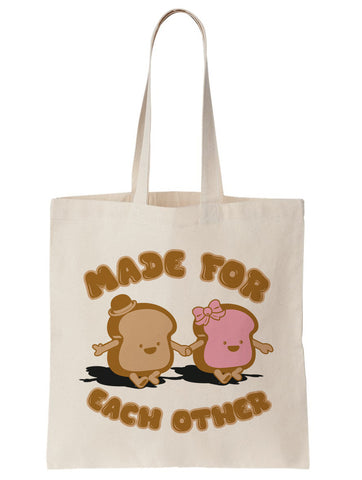 Made for Each Other Peanut Butter and Jelly Tote Bag - By Ex-Boyfriend