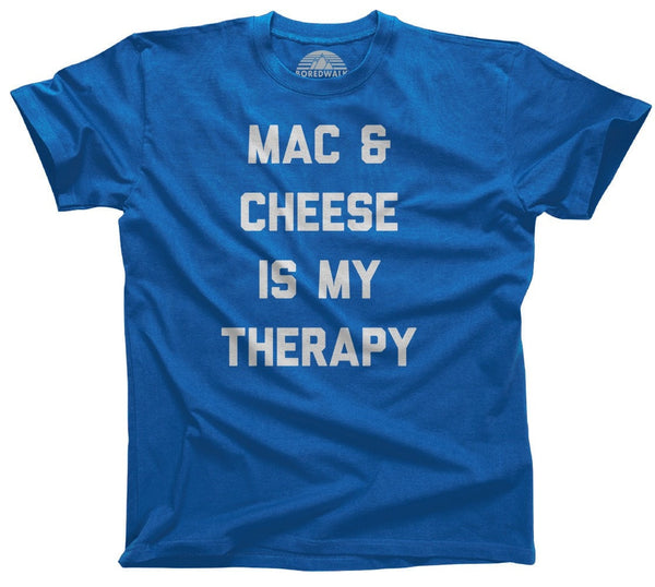 Boredwalk Men's Mac & Cheese Is My Therapy T-Shirt - Royal