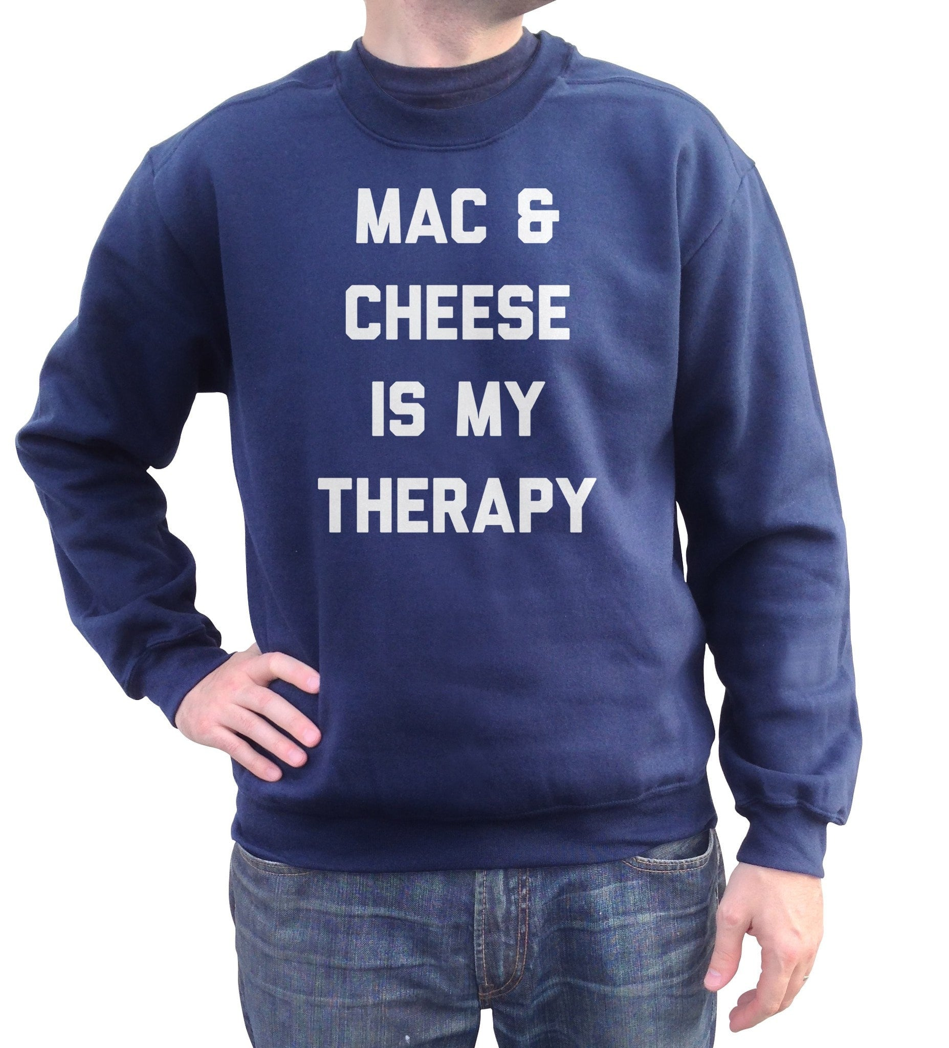 Unisex Mac and Cheese Is My Therapy Sweatshirt