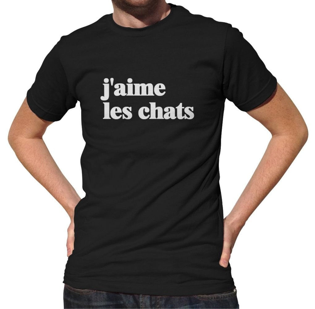 Men's J'aime Les Chats T-Shirt