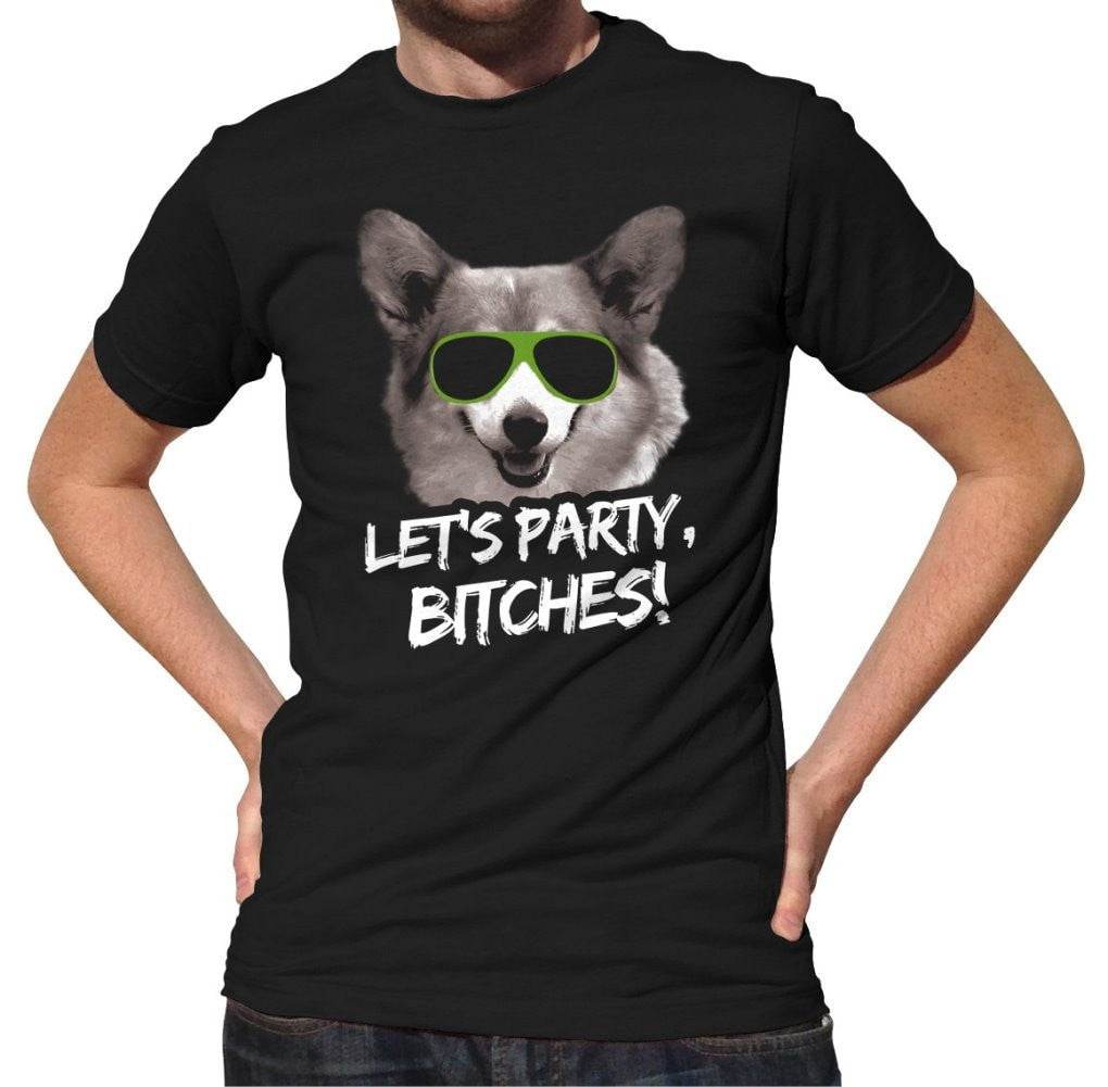 Men's Let's Party Bitches Dog T-Shirt