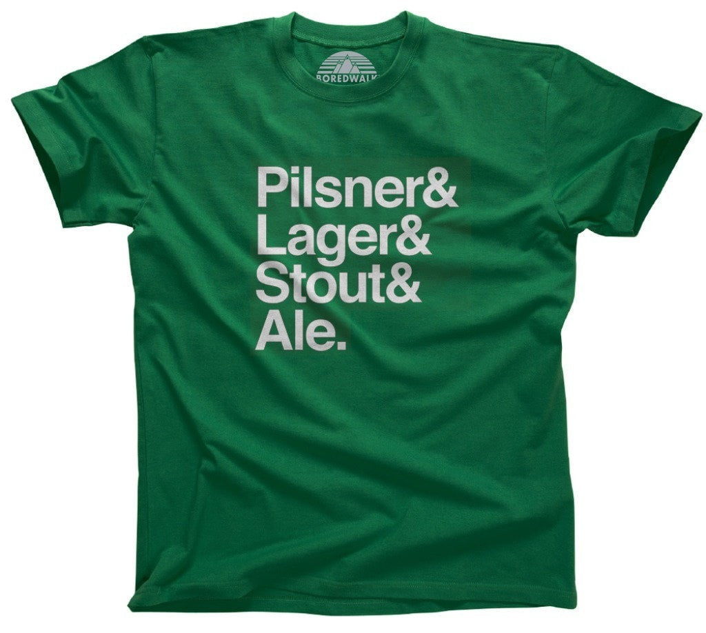 Men's Lager And Stout And Pilsner And Ale T-Shirt