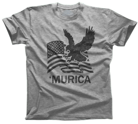 Men's Murica Eagle With Us Flag T-Shirt