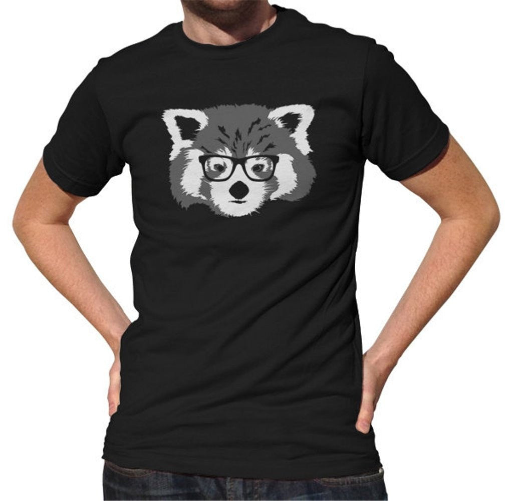 Men's Red Panda With Glasses T-Shirt