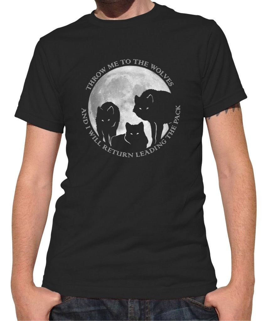 Men's Throw Me To The Wolves And I Will Return Leading The Pack T-Shirt
