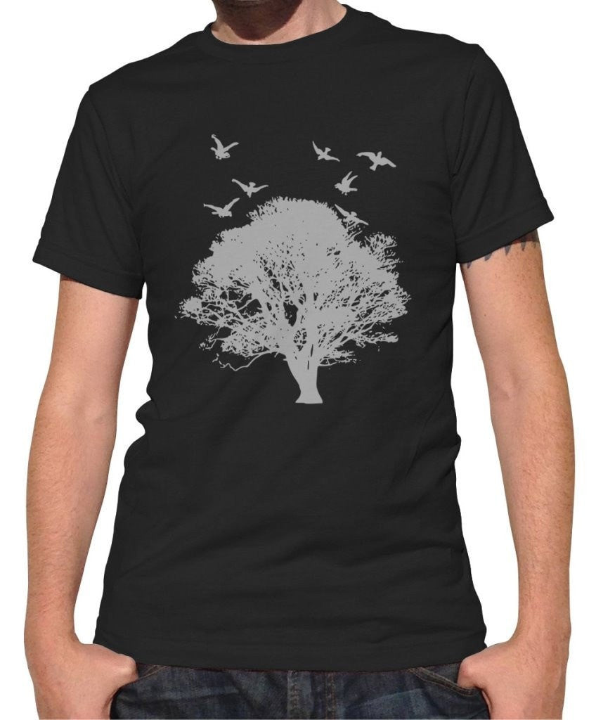 Men's Tree And Birds T-Shirt