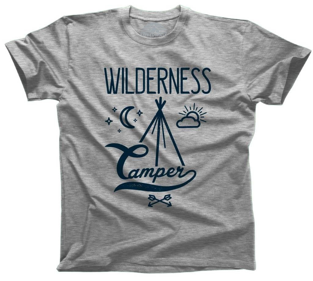 Men's Wilderness Camper T-Shirt Hipster Camping T-Shirt