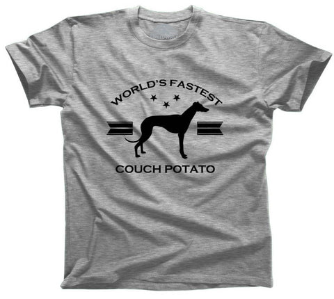 Men's World's Fastest Couch Potato Greyhound T-Shirt