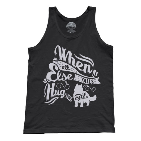 Unisex When All Else Fails Hug The Cat Tank Top