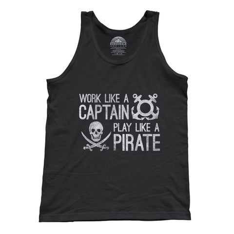 Unisex Work Like A Captain Play Like A Pirate Tank Top