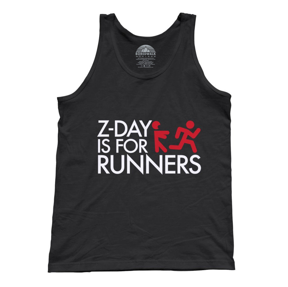 Unisex Z Day Is For Runners Tank Top Zombies Runner Shirt