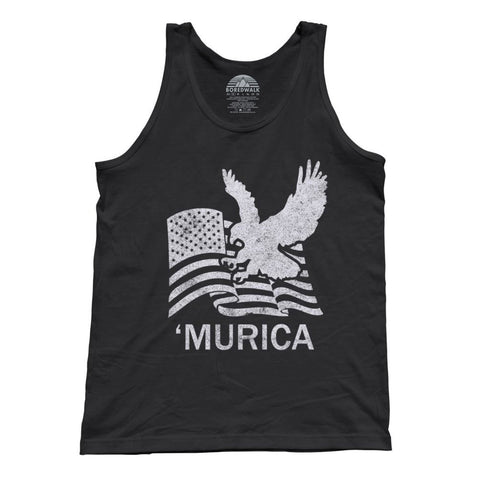 Unisex Murica Eagle With Us Flag Tank Top