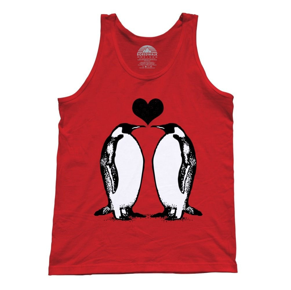 Unisex Penguins In Love Tank Top