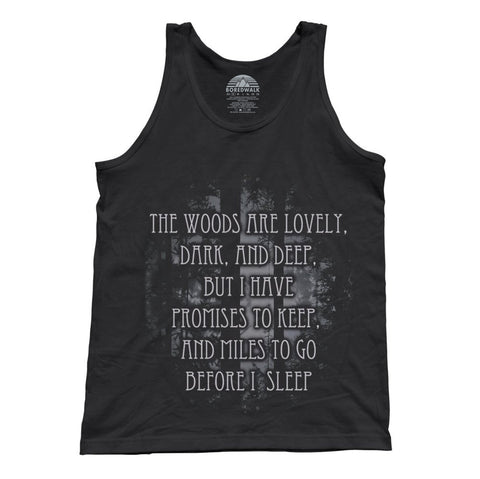 Unisex Stopping By Woods On A Snowy Evening Robert Frost Tank Top
