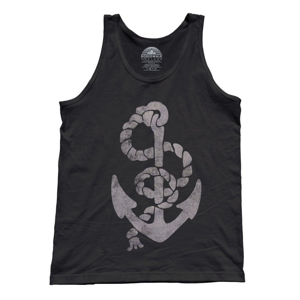 Unisex Vintage Anchor Tank Top