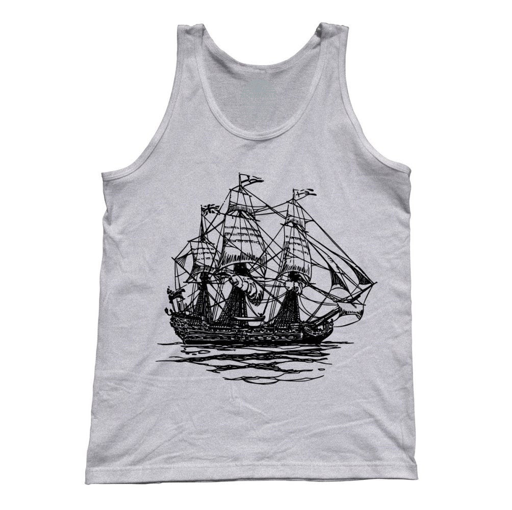 Unisex Vintage Pirate Ship Tank Top