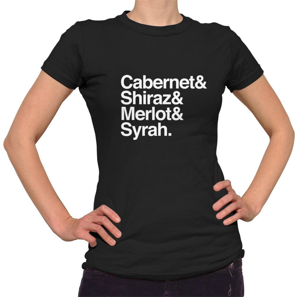 Women's Cabernet Shiraz Merlot And Syrah T-Shirt Wine Lover T Shirt