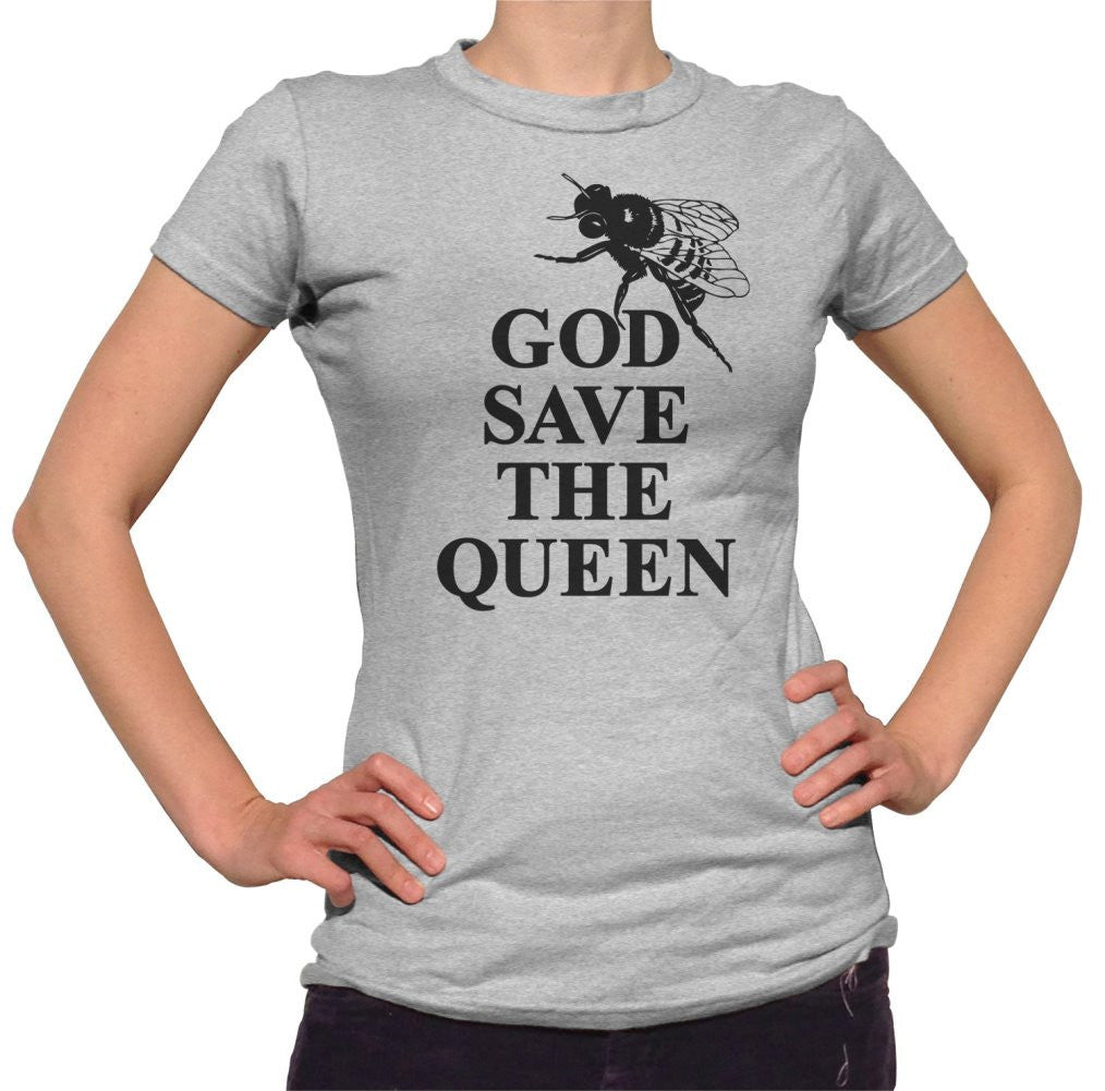 Women's God Save The Queen Bee Save The Bees Bee T-Shirt