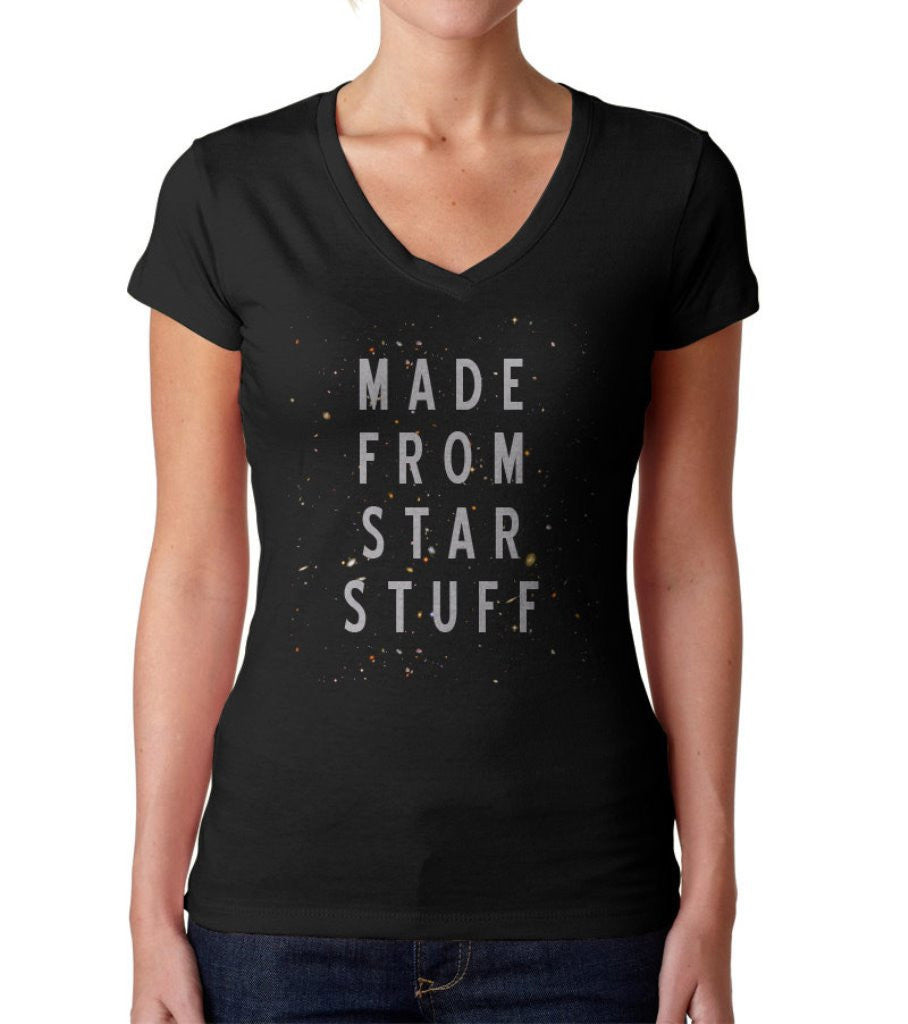 Women's Made From Star Stuff Vneck Astronomy T-Shirt