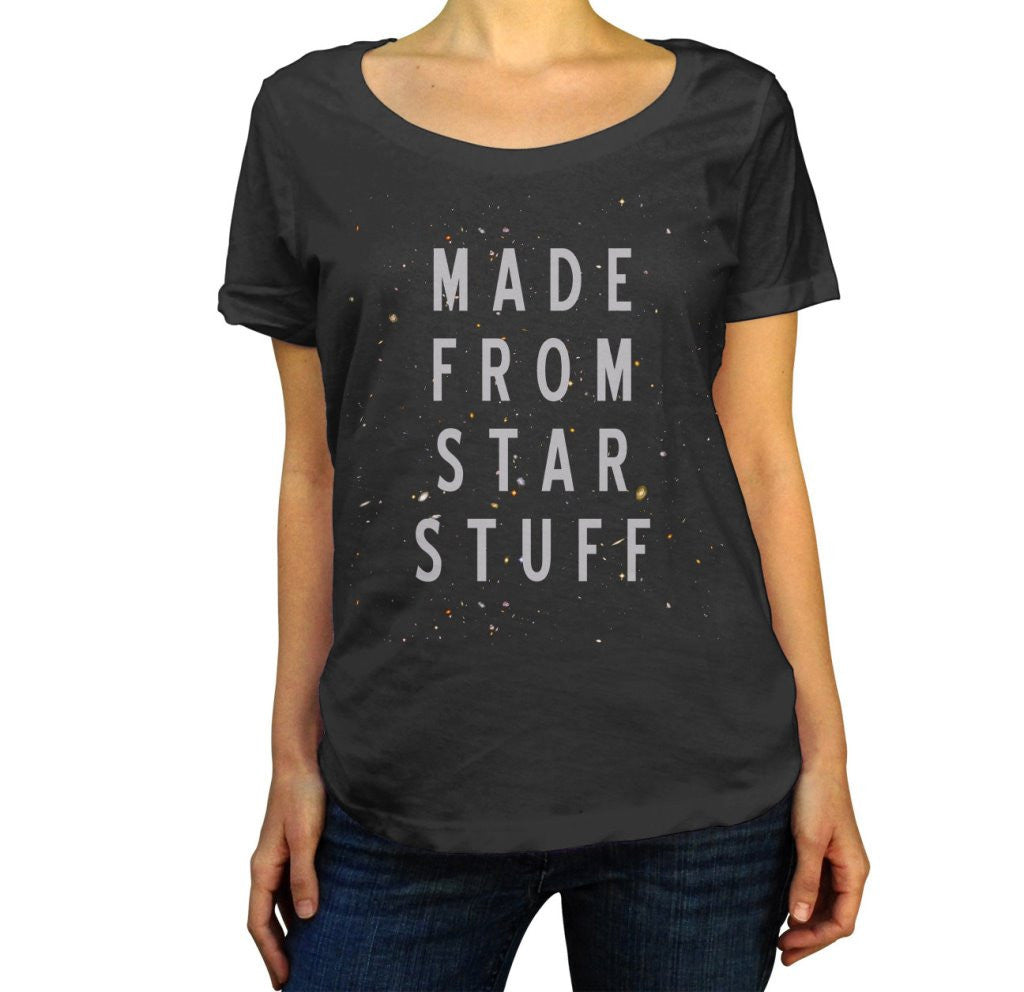 Women's Made From Star Stuff Scoop Neck Astronomy Shirt