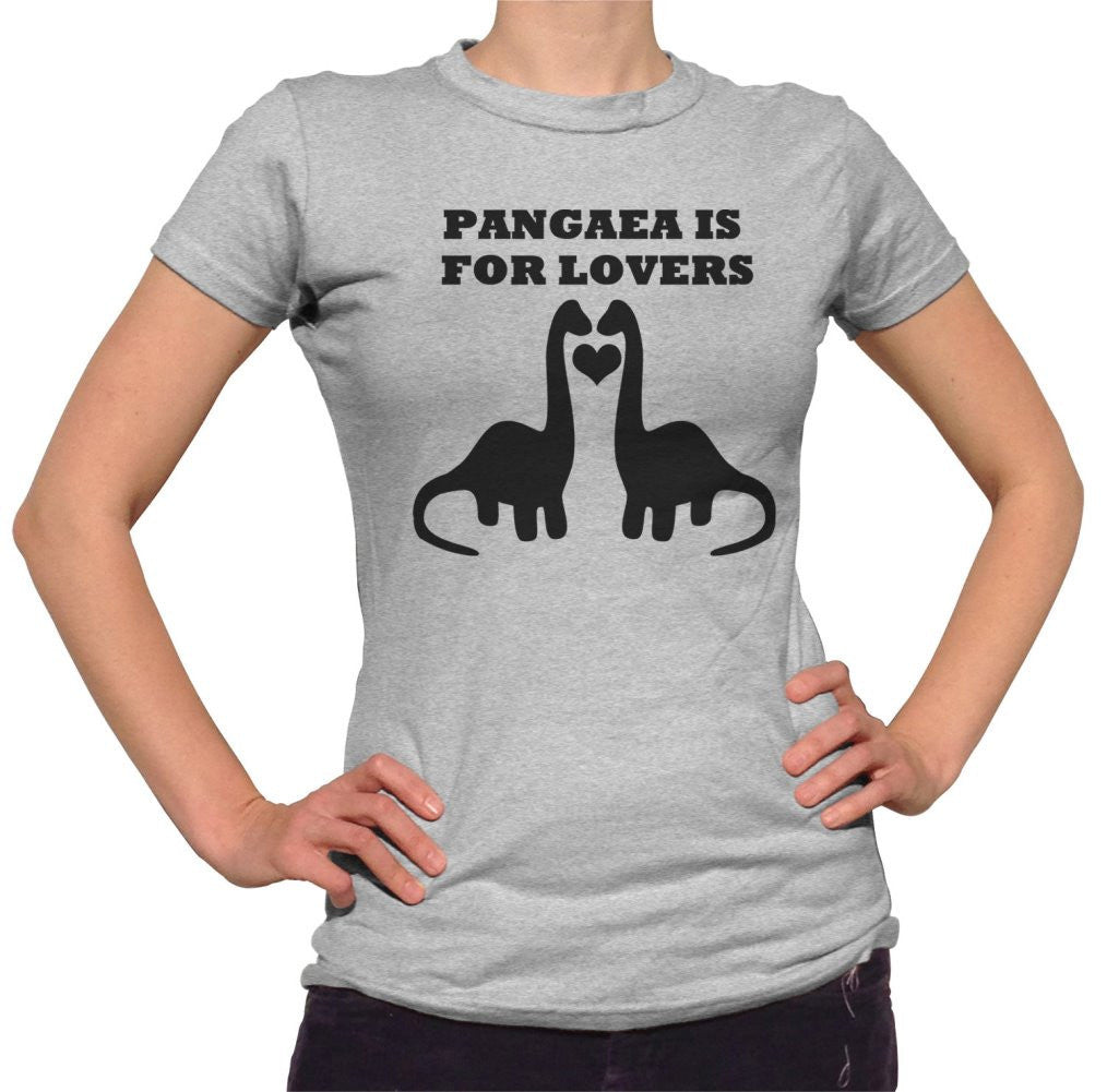 Women's Pangaea Is For Lovers Funny Dinosaur T-Shirt Paleontology