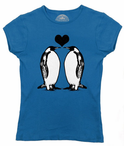 Women's Penguins In Love T-Shirt