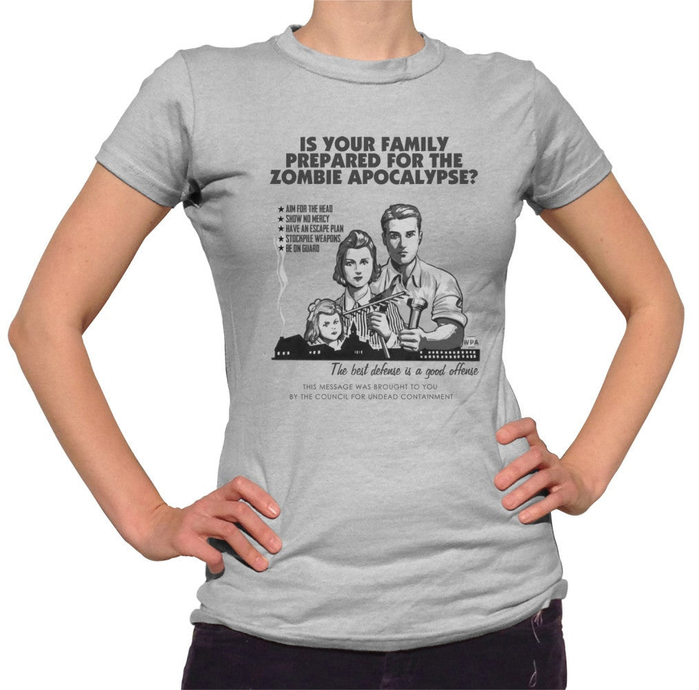 Women's Prepare For Zombies Retro Style T-Shirt