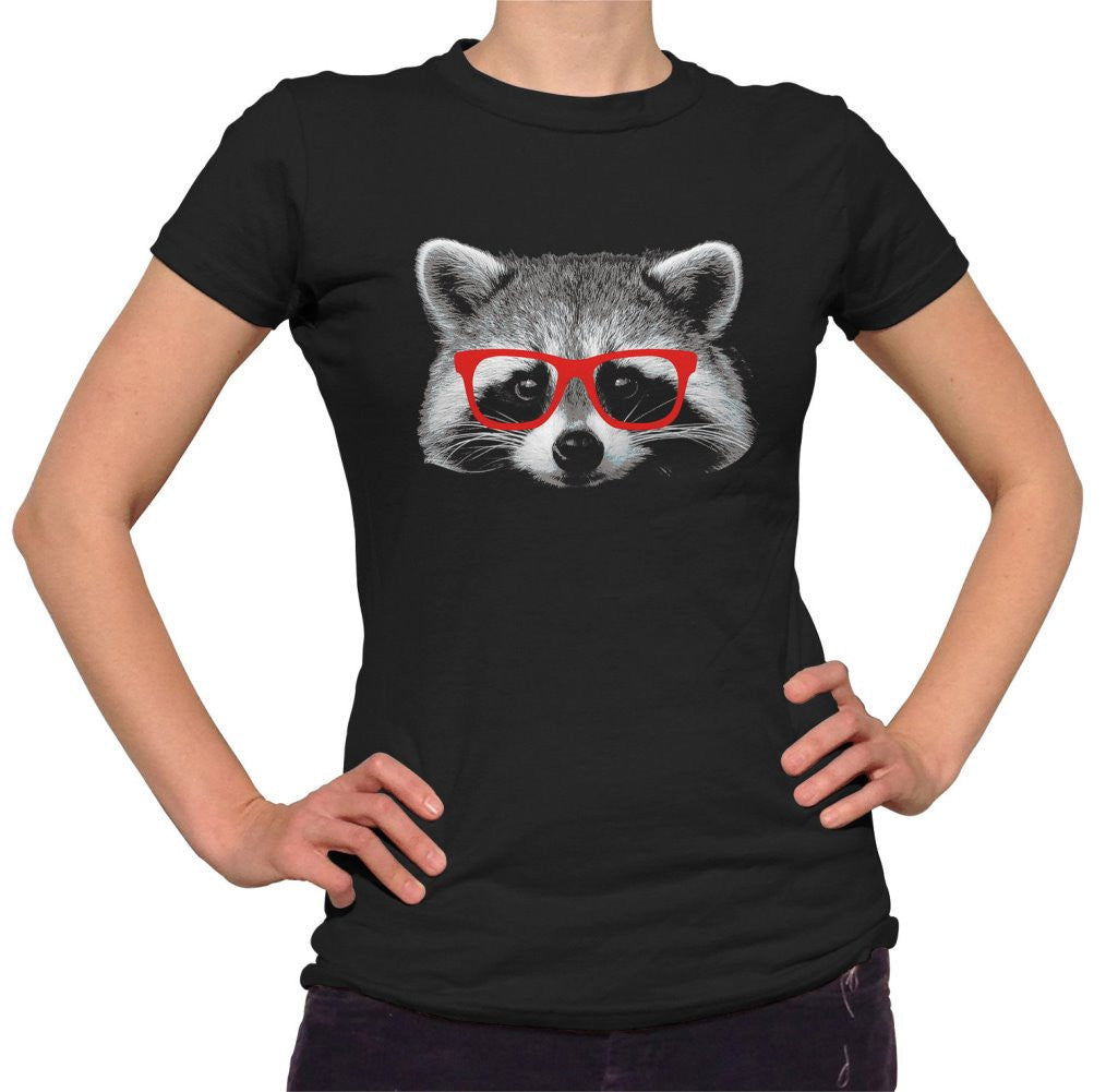 Women's Raccoon With Glasses T-Shirt