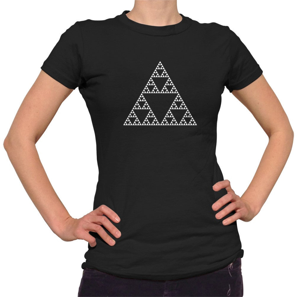 Women's Sierpinski Triangle Fractal T-Shirt