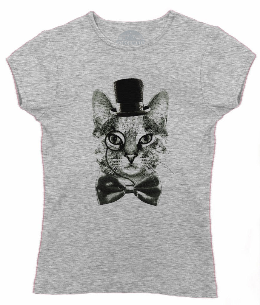 Women's Steampunk Cat T-Shirt