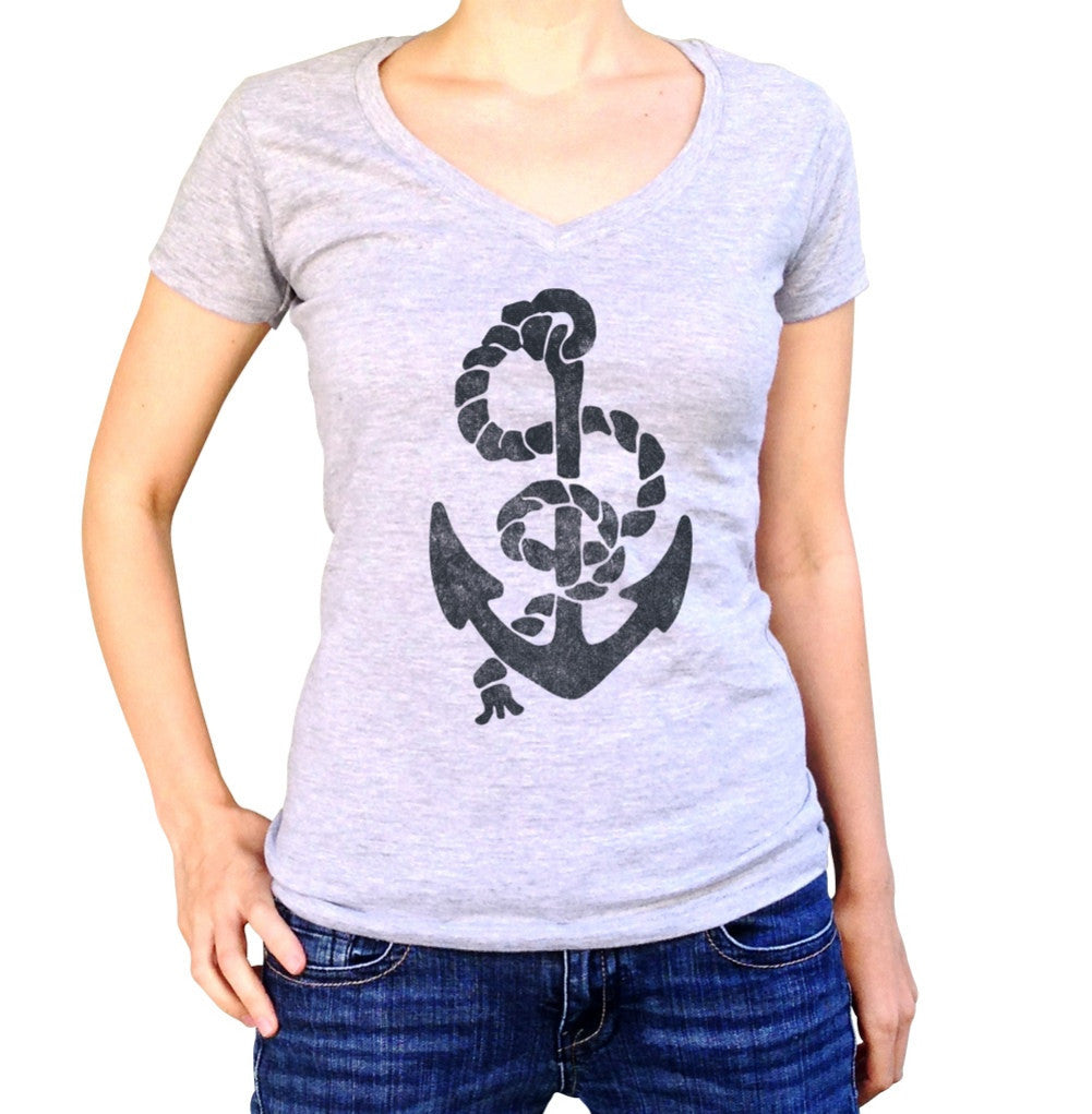 Women's Vintage Anchor Vneck T-Shirt