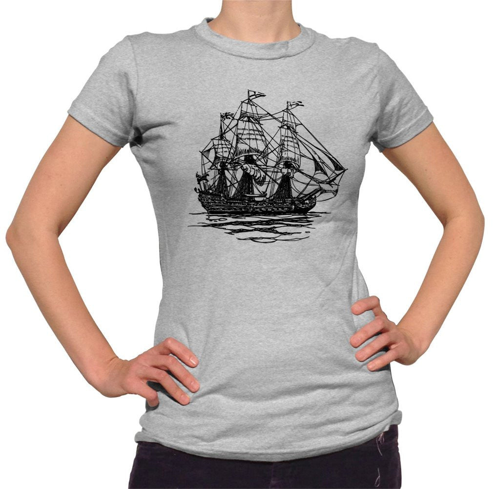 Women's Vintage Pirate Ship T-Shirt