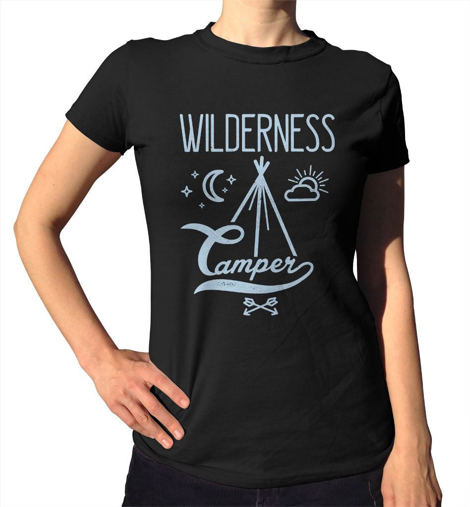 Women's Wilderness Camper - Hipster Camping T-Shirt