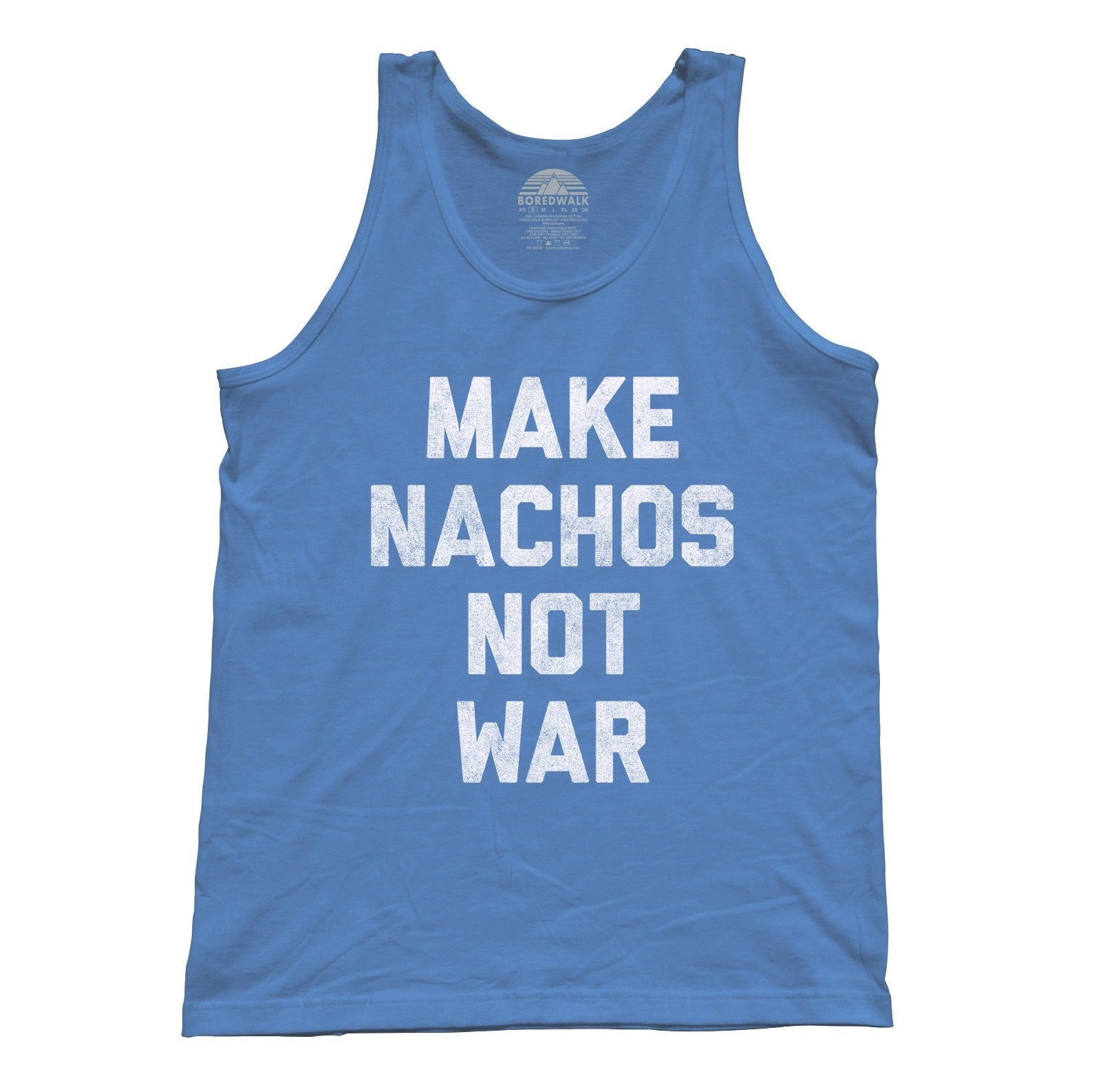 Unisex Make Nachos Not War Tank Top