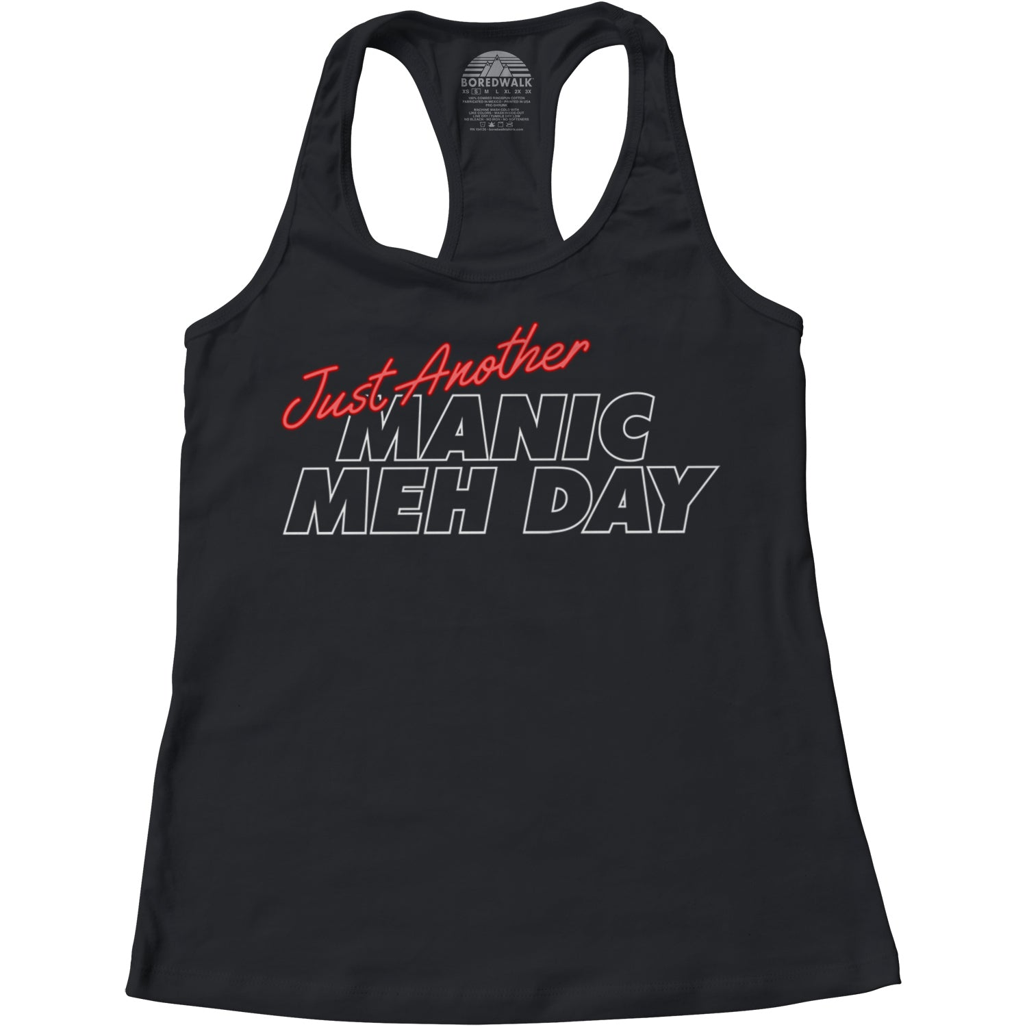 Women's Just Another Manic Meh Day Racerback Tank Top