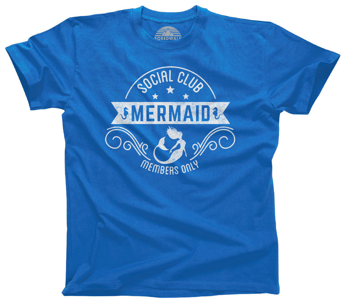 Women's Mermaid Social Club T-Shirt  - Relaxed Unisex Fit