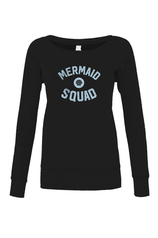 Women's Mermaid Squad Scoop Neck Fleece - Juniors Fit