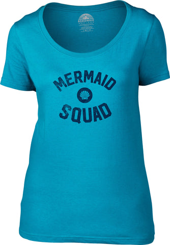 Women's Mermaid Squad Scoop Neck Shirt
