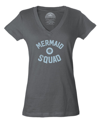 Women's Mermaid Squad Vneck T-Shirt - Juniors Fit