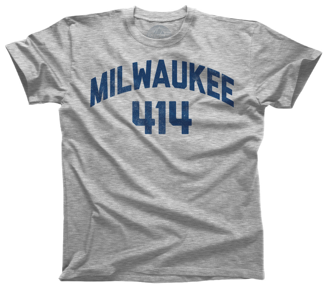 Men's Milwaukee 414 Area Code T-Shirt