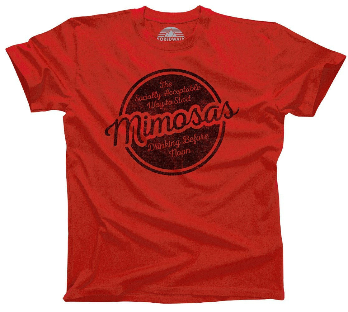 Men's Mimosas Socially Acceptable Drinking Before Noon T-Shirt