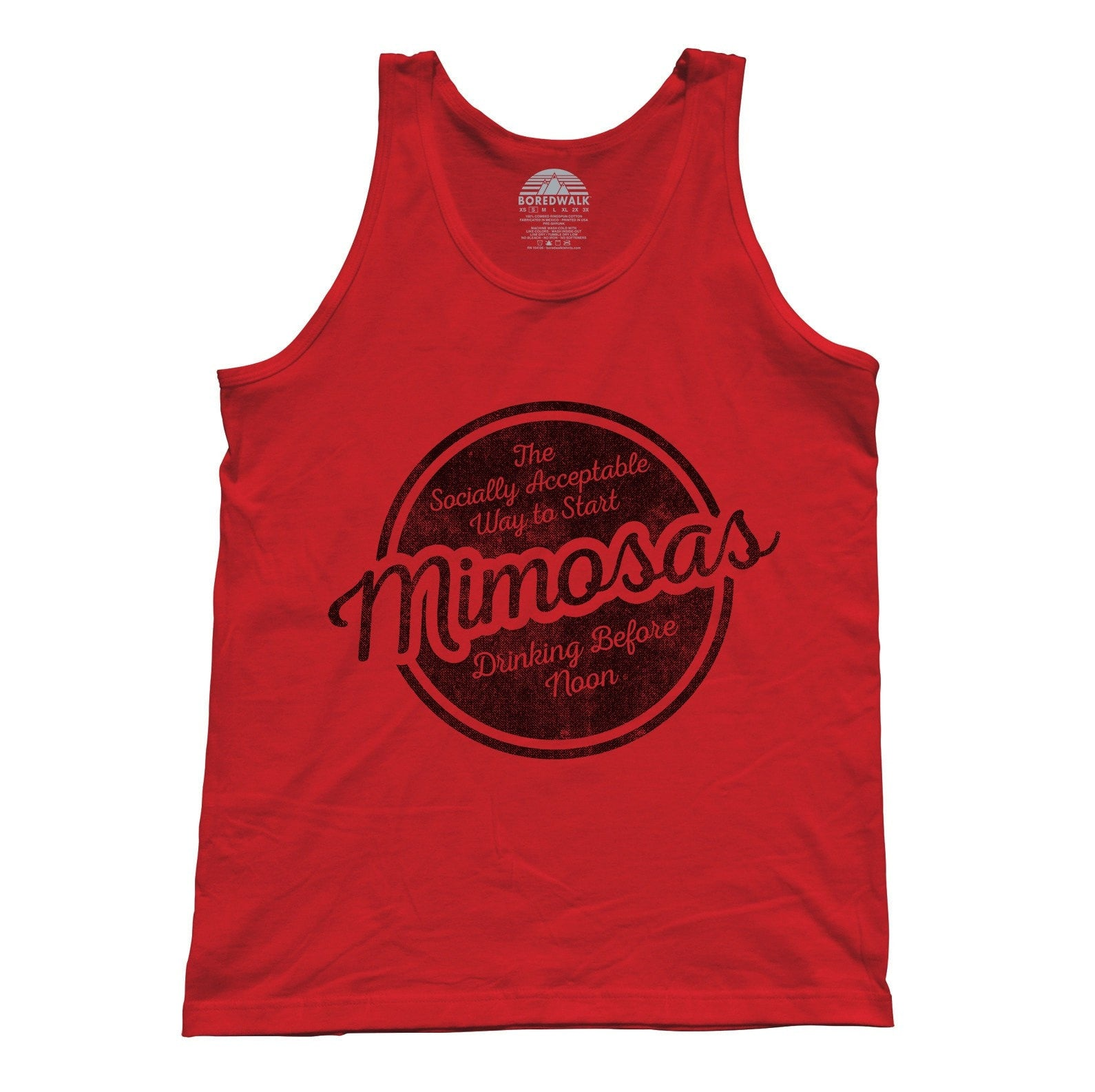 Unisex Mimosas Socially Acceptable Drinking Before Noon Tank Top