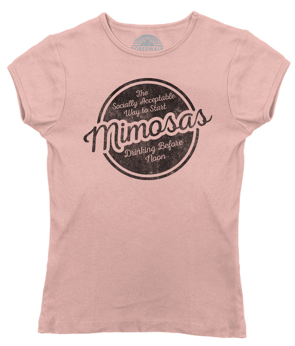 Women's Mimosas Socially Acceptable Drinking Before Noon T-Shirt
