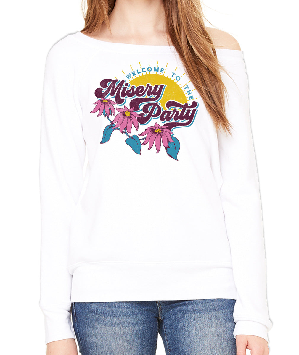 Women's Welcome To The Misery Party Scoop Neck Fleece