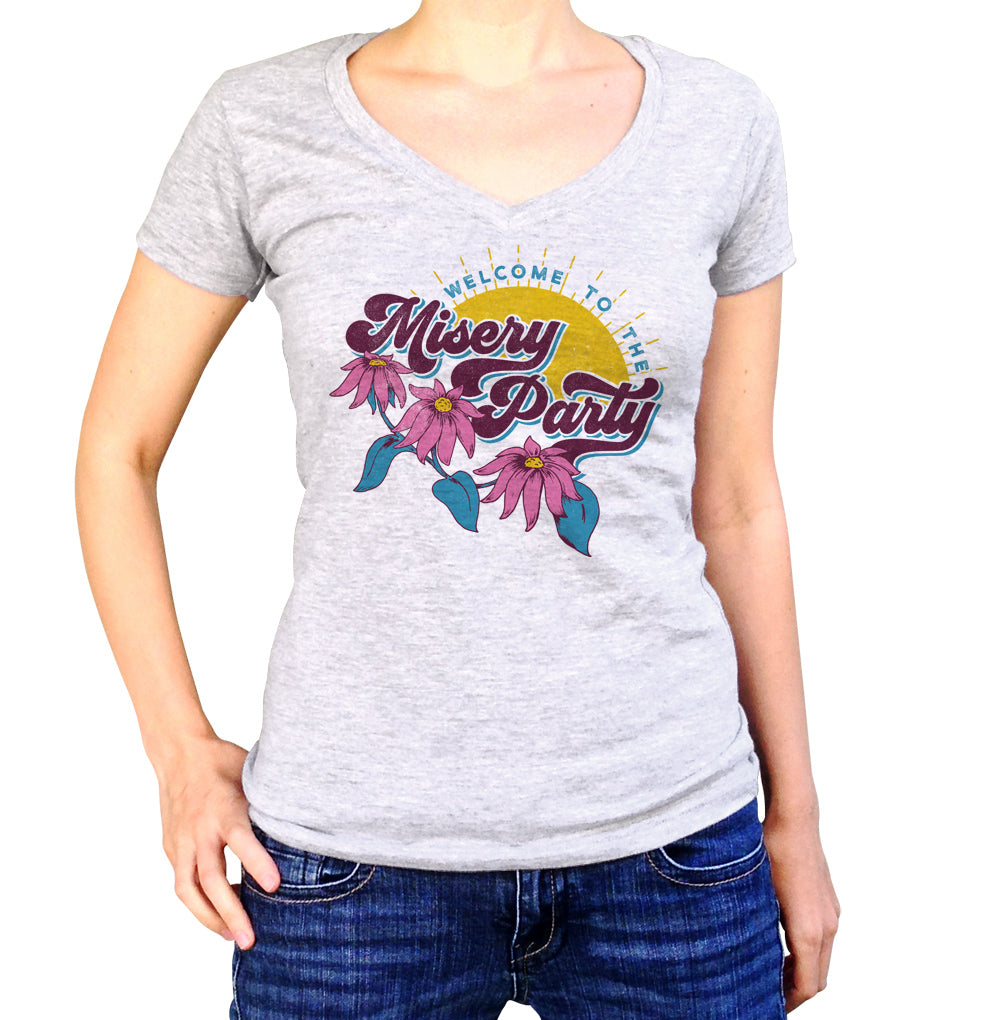 Women's Welcome To The Misery Party Vneck T-Shirt